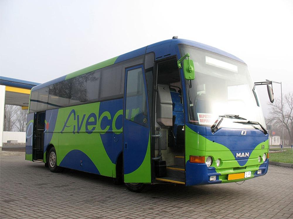 Заказать автобус на сегодня MAN 11.230. Компания Днепр-Море.
