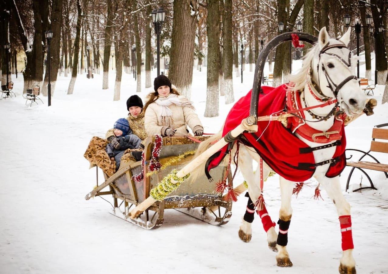 Зимние конные прогулки. Нестеренки с компанией Днепр-Море