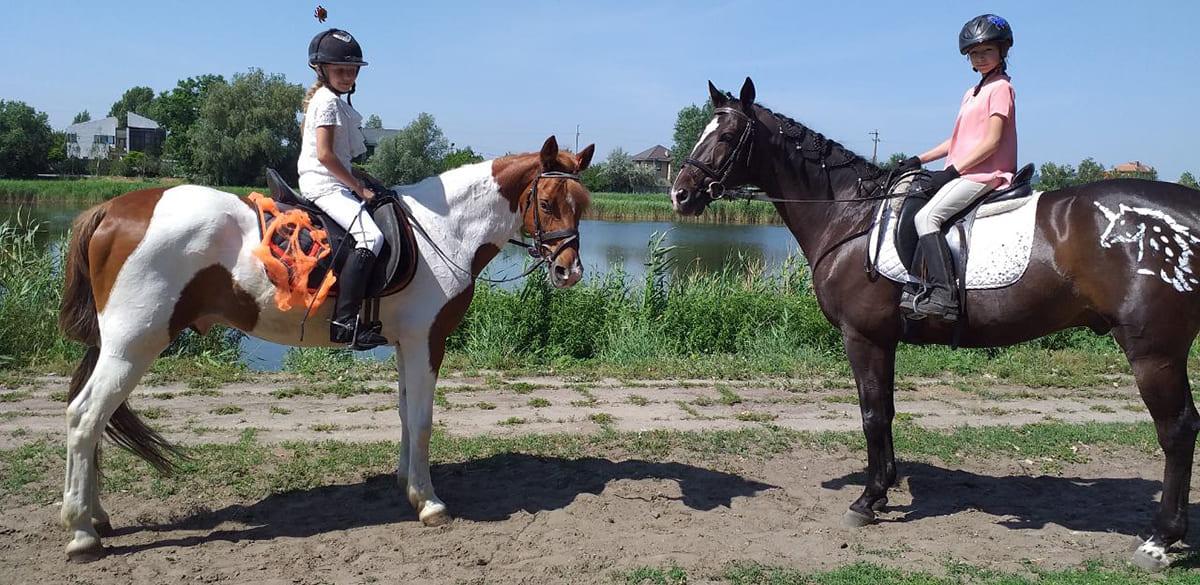 Купание с лошадьми по берегу Днепра. Днепр-Море